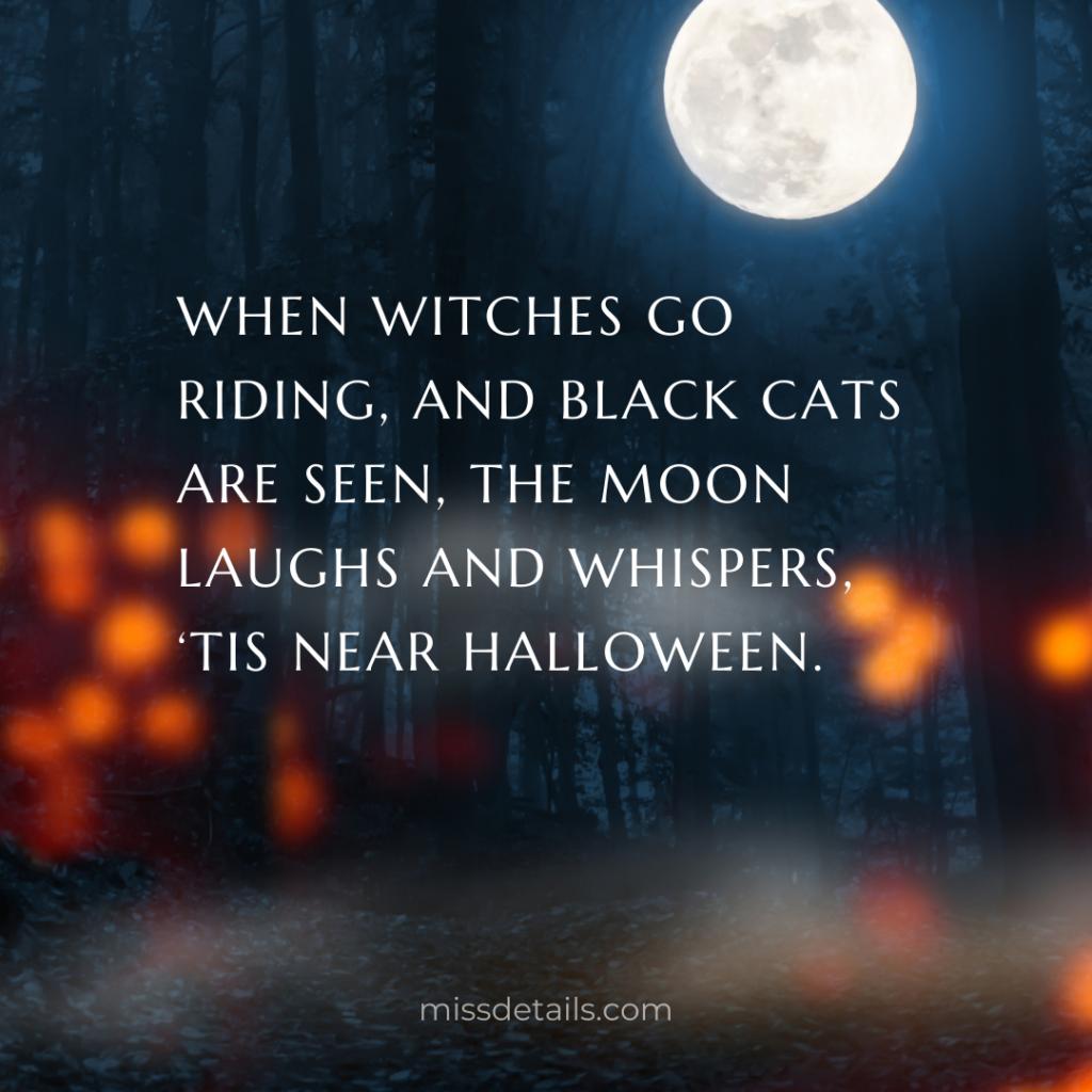 Halloween quote social media post
